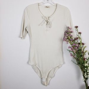 Madewell | White body suit in the size Large